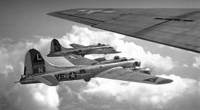 B-17 Flying Fortress a hard-fought battle over Germany