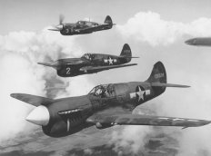 Close air support in the Curtiss P-40 Warhawk