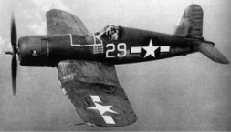 Vought F4U Corsair single-seat fighter, carrier-operable fighter bomber