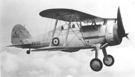 The last British biplane fighter Gloster Gladiator