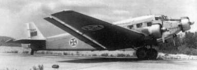 The Junkers Ju 52/3M 18-seat military transport