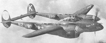 Lockheed P-38 Lightning single-seat fighter and fighter-bomber