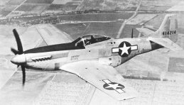 High flyer of the North American P-51D Mustang